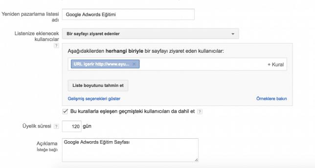 Adwords Hedef Kitle Ekleme Nasıl Yapılır