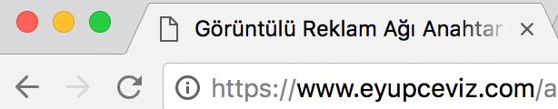 Https'e(SSL) Geçiş Yaptım